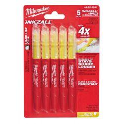 Żółte markery - 5 sztuk Milwaukee Inkzall