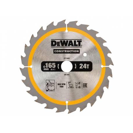 Tarcza do drewna do pilarek ręcznych DeWalt 165x20x24T DT1949-QZ