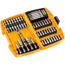 DEWALT DT71572-QZ 45 cz. zestaw końcowek wkrętarskich 25, 50mm + nasadki 8, 10mm + uchwyt