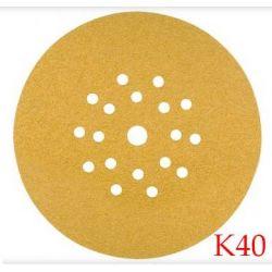 Papier ścierny do gipsu na rzep 225mm - Rhodius PROline KKLS Velcro K40 25szt. NR.304366