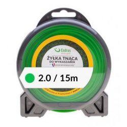 CEDRUS Żyłka tnąca 2.0/15m bl.okrągła zielona