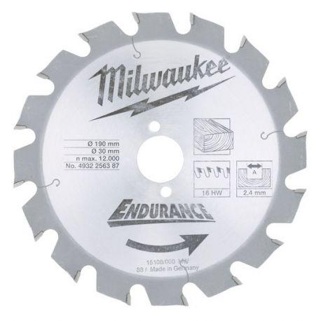 Tarcza tnąca do narzędzi przenośnych 190/30 mm Milwaukee