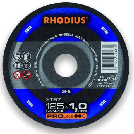 Stalowa tarcza tnąca 125x1.0 Rhodius XT67