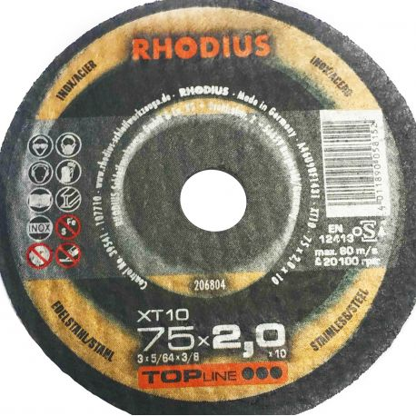 Tarcza tnąca 75x2.0x10 Rhodius XT10
