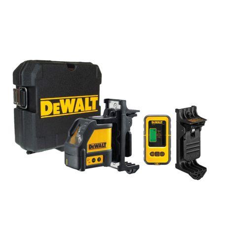 Laser liniowy samopoziomujący + detektor DeWalt DW088KD