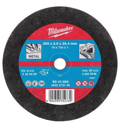 Tarcza tnąca 355 mm do przecinarki do metalu Milwaukee SC41/355