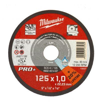 TARCZA DO CIĘCIA METALU SCS 41/125 125X1 MILWAUKEE PRO+