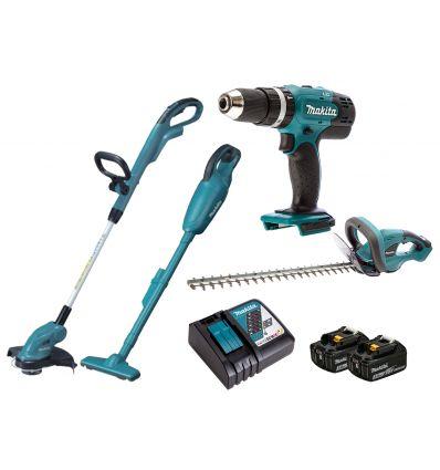 Zestaw akum. narzędzi ogrodowych 18V Makita DLX4093