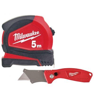 Zestaw Taśma miernicza + Nóż składany Milwaukee