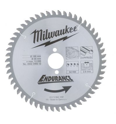 Tarcza pilarska do drewna 190 mm Milwaukee