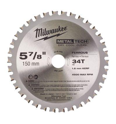 Tarcza pilarska do metalu 150 mm Milwaukee