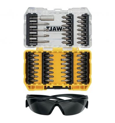 Zestaw bitów 47 el. DeWalt DT70703 + okulary ochronne