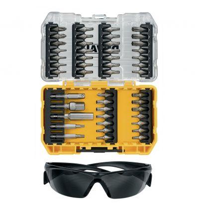 Zestaw bitów 47 el. DeWalt DT70704 + okulary ochronne