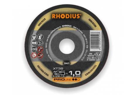 Tarcza tnąca do metalu 125 x 1.0 x 22,23 mm Rhodius XT38