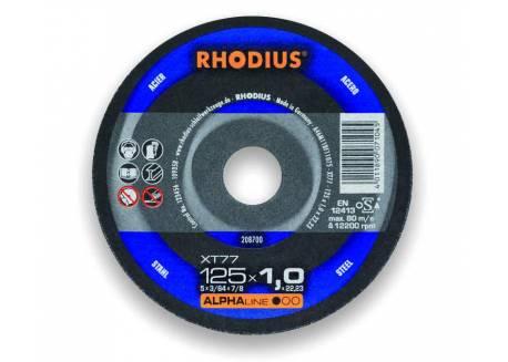 Stalowa tarcza tnąca 125x1.0 Rhodius XT77
